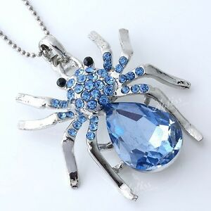 1-pcs-Women-039-s-Silver-Plated-Crystal-Spider-Animal-Bead-Pendant-Fashion-Jewelry