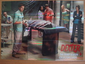 DEXTER-THE-THIRD-SEASON-PUZZLE-CHASE-CARDS-FULL-SET-OF-9