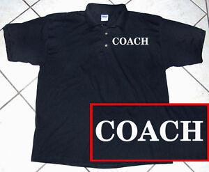Polo shirt sports baseball football soccor coach for Soccer coach polo shirt