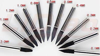 5pcs Carbide PCB Engraving Bits CNC Router Tool 45 Degree 45° 0.3mm