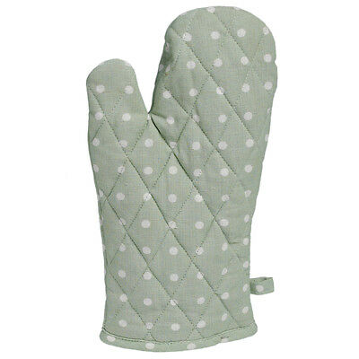 dotcomgiftshop CLASSIC SPOT COTTON OVEN GLOVE MINT