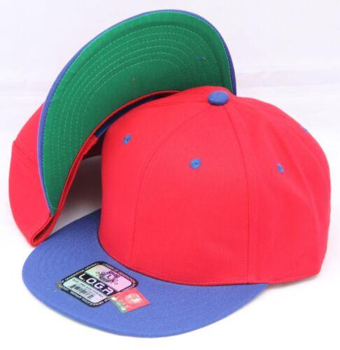 Adjustable PLAIN SNAPBACK HAT BASEBALL CAP 100/% Cotton Two Colors Hat