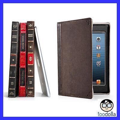 TWELVE SOUTH BookBook Hardback Vintage Style Leather Case, iPad Mini, BROWN, NEW