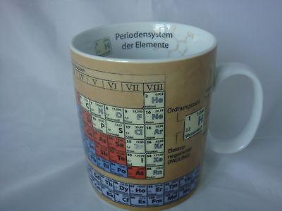 Chemie Periodensystem  Becher Könitz Porzellan 400ml 0,4 Liter Tasse  2.Wahl