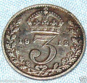 1912-Sterling-Silver-Threepence-Coin-TITANIC-Ship-Cruise-Liner-Boat-London-NYC