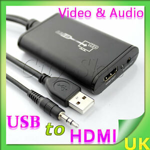 1080P-USB-2-0-PC-to-HDMI-Graphics-Converter-with-Audio-3-5mm-Jack-Cable-HDTV