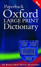 Oxford Large Print Dictionary by Oxford University Press (Paperback, 2002)