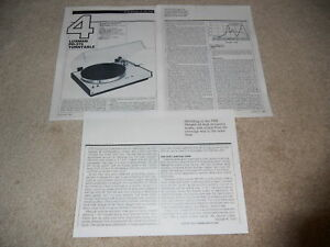 Luxman PD-375 Turntable Review, 3 pg, 1982, Full Review
