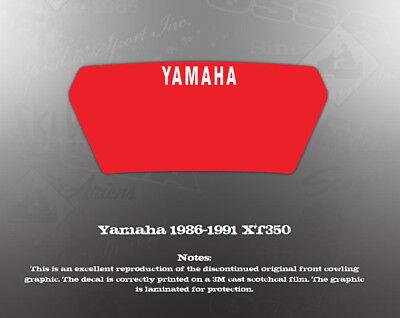 YAMAHA 1986-1991 XT350 COWLING HEADLIGHT GRAPHIC DECAL