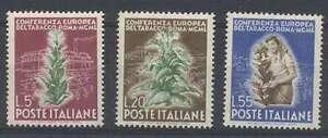 Italy Stamps Yvert # 567/9 MNH C/V €115=$166 Very Nice L@@K