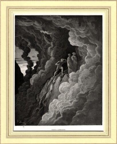 PURGATORIO: IRACONDI: MARCO LOMBARDO. Gustave Doré. Dante. Divina Commedia. 1890