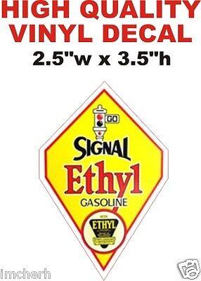 Vintage Style Signal Ethyl Gasoline Gas Oil Pump Decal  The Best or 100% Refund