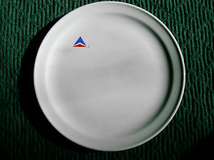 VINTAGE-DELTA-AIR-LINES-CHINA-PLATE-WIDGET-LOGO-MAYER-USA-382
