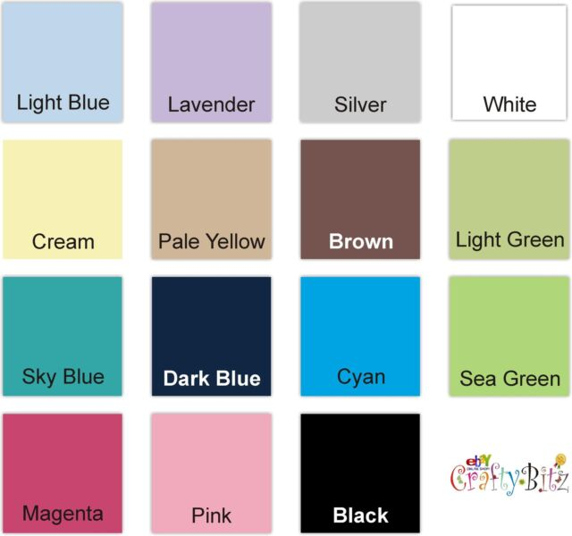 """Crafty Bitz 12"""" x 12"""" Scrapbooking 15 Assorted Coloured Craft Papers Pack"""