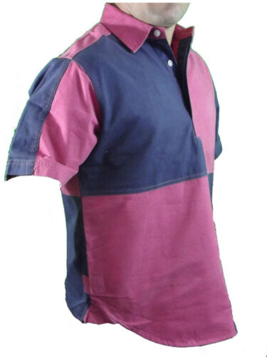 Quartered Patch Drill Harlequin S//Sleeve New Rugby Shirt Front Row
