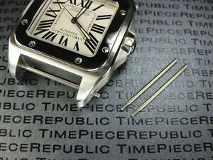 2pcs-Top-23mm-Stainless-Strap-Screw-Leather-Band-CARTIER-SANTOS-100-XL