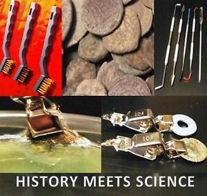 ELECTROLYSIS ARTIFACT CLEANING - PICK -3pc BRUSH SET ANCIENT ROMAN COIN