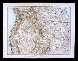 1900 Times Map California Oregon Colorado Wyoming Montana Nevada