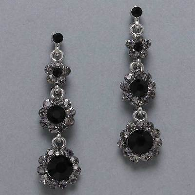 Flower Chandelier Earrings Austrailian Crystal **New**