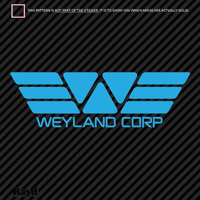 (2x) Weyland Corp Sticker Decal Die Cut vinyl corporation yutani