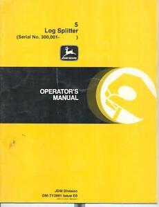 John-Deere-5-Log-Spliiter-Operators-Manual-OM-TY3991