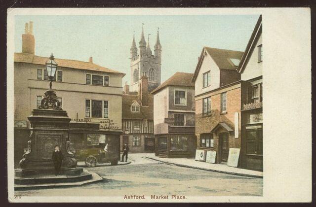 Kent ASHFORD Market Place PPC pre 1919