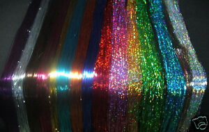 40-Tinsel-24-Colors-SPARKLE-SHINY-tinsel-Mix-and-match-packs-of-10