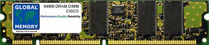 64-Mo-DRAM-DIMM-Memoire-pour-Cisco-7505-7507-7513-Routeur-vip6-mem-vip6-64m-sd
