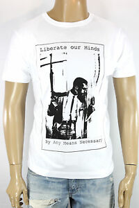 Extra-Large-Malcolm-X-White-T-Shirt-XL-vintage-retro-emo-punk-rock-and-roll-film