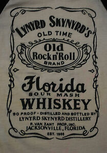 VINTAGE-LYNYRD-SKYNYRD-OLD-TIME-ROCK-N-ROLL-BAND-FLORIDA-WHISKEY-SHIRT-1970-039-S-XS