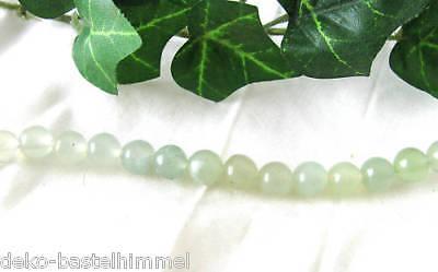 10 grüne Jade Kugeln, 6 mm, Perlen, Halbedelsteine