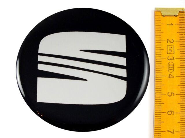 SEAT ★ 4 Stück ★ SILIKON Ø70mm Aufkleber Emblem Felgenaufkleber Radkappen