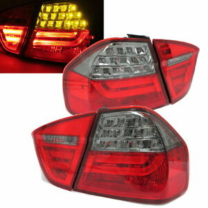 E90-2005-2008-4Dr-LED-Tail-Rear-Light-Red-Smoke-w-LED-Amber-for-BMW-LCI-Style