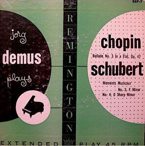JORG-DEMUS-ballade-n-3-moments-musicaux-CHOPIN-SCHUBERT-EP-REMINGTON-USA-VG