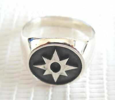 SILVER 925 Star Sapphire (Love) Green Lantern Corp RING