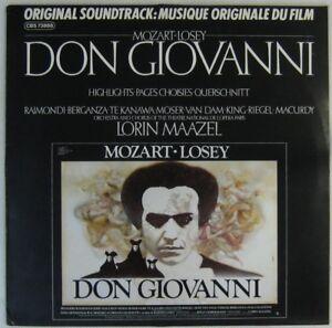 Don Giovanni 33 tours Mozart-Losey 1979 - France - État : Occasion: Objet ayant été utilisé. Consulter la description du vendeur pour avoir plus de détails sur les éventuelles imperfections. ... Format: LP Genre: Musique de film Vitesse: 33 tours - France