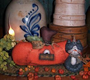 Primitive-Halloween-Pumpkin-Cat-Ornie-Doll-Paper-Pattern-612