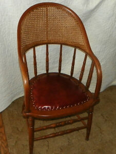 Oak-Caned-Firehouse-Armchair-Chair-with-leather-seat-AC78