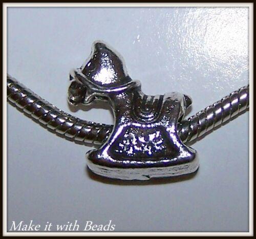 Tibetan Silver Animal Charm Bracelet Spacer Beads Dog Cat Frog Owl Rabbit Bat