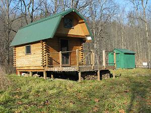 Log-cabin-NY-land-7-acres-hunting-fishing-stream-creek-waterfront-camp