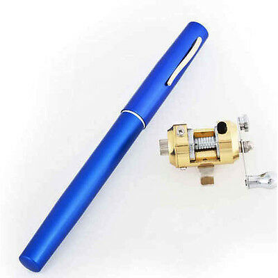 New Portable Pen Shape Aluminum Alloy Fish Fishing Rod Pole+Reel Combos