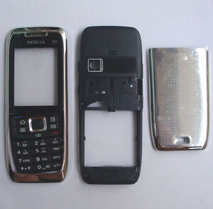 NEW-Silver-Cover-Housing-Case-For-Nokia-E51-Keypad-Tool