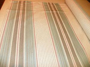 Cream-Turquoise-Mauve-Stripe-Print-Upholstery-Fabric-1-Yard-R953