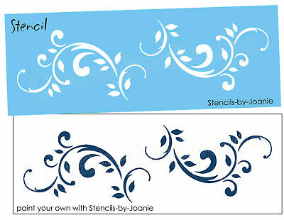 STENCIL Scroll Flourish Shabby Cottage French Floral Decor Border Chic Signs
