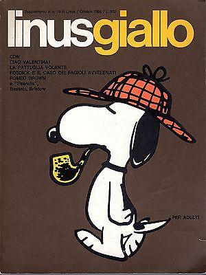LINUSGIALLO - Ottobre 1966 con CREPAX, Peanuts....