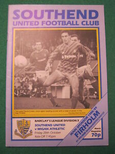 PROGRAMME-Southend-United-v-Wigan-Athletic-28-Oct-1988