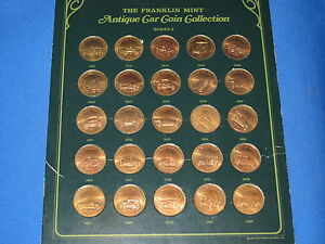 Franklin Mint Antique Car Coins Series
