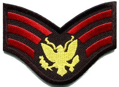 Army military insignia rank war biker retro applique iron-on patch new G-80