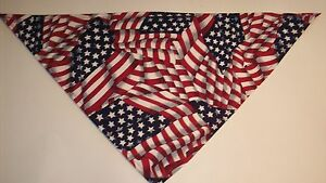 Dog-Bandana-Scarf-Patriotic-Tie-On-Slide-On-Flag-Custom-Made-by-Linda-xS-S-M-L