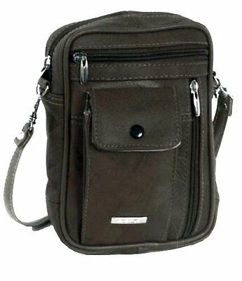 NEW Small Leather Bag Mens Womens Leather Handbag Lorenz Shoulder Bag Manbag UK